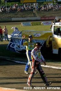 Andreas Jonsson i Ryan Sullivan - czołowi obcokrajowcy polskiej Ekstraligi w sezonie 2003