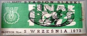 Bilet z finału IMŚ z 1973 roku