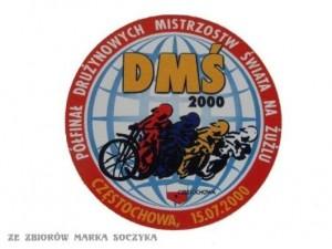 Logo półfinału DMŚ, który rozegrany został na Stadionie Miejskim w Częstochowie w 2000 roku