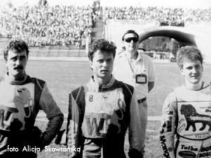 Włókniarze w finale MPPK 1989 – S. Drabik, D. Rachwalik i J. Sikoń