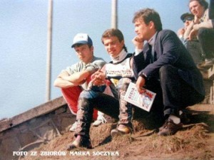 """Klan"" Ułamków. Od lewej: Adam, Sebastian i Piotr"