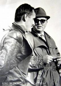 Prezes Wacław Tomaszewski w rozmowie ze Stanisławem Rurarzem