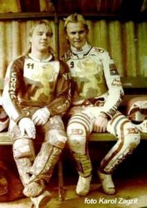 W 1991 roku we Włókniarzu pojawili się pierwsi w historii klubu obcokrajowcy. Ulubieńcami kibiców stali się: Jan Holub (z lewej) i Todd Wiltshire